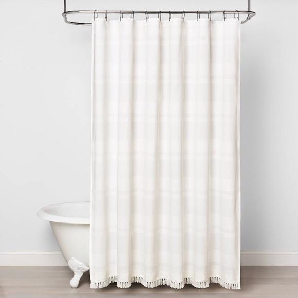 NEW Textured Stripe Hearth & Hand Shower Curtain